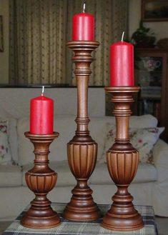 Kerzenstaender aus Holz KSA MOF 2